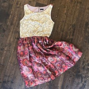 Anthropologie wren holiday Christmas party dress s